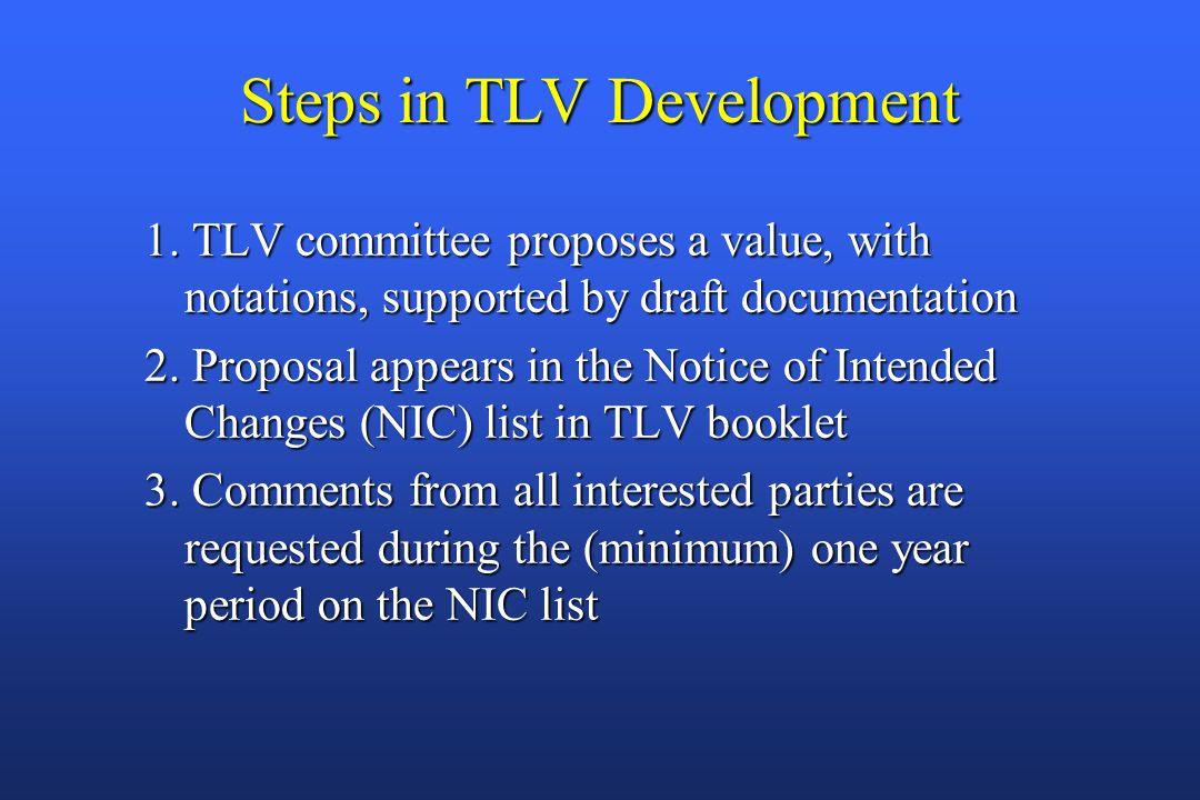 Steps in TLV Development 1.