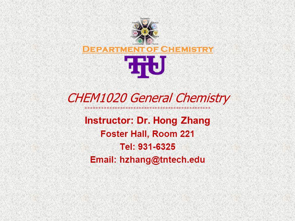 CHEM1020/General Chemistry _________________________________________ Chapter 20.
