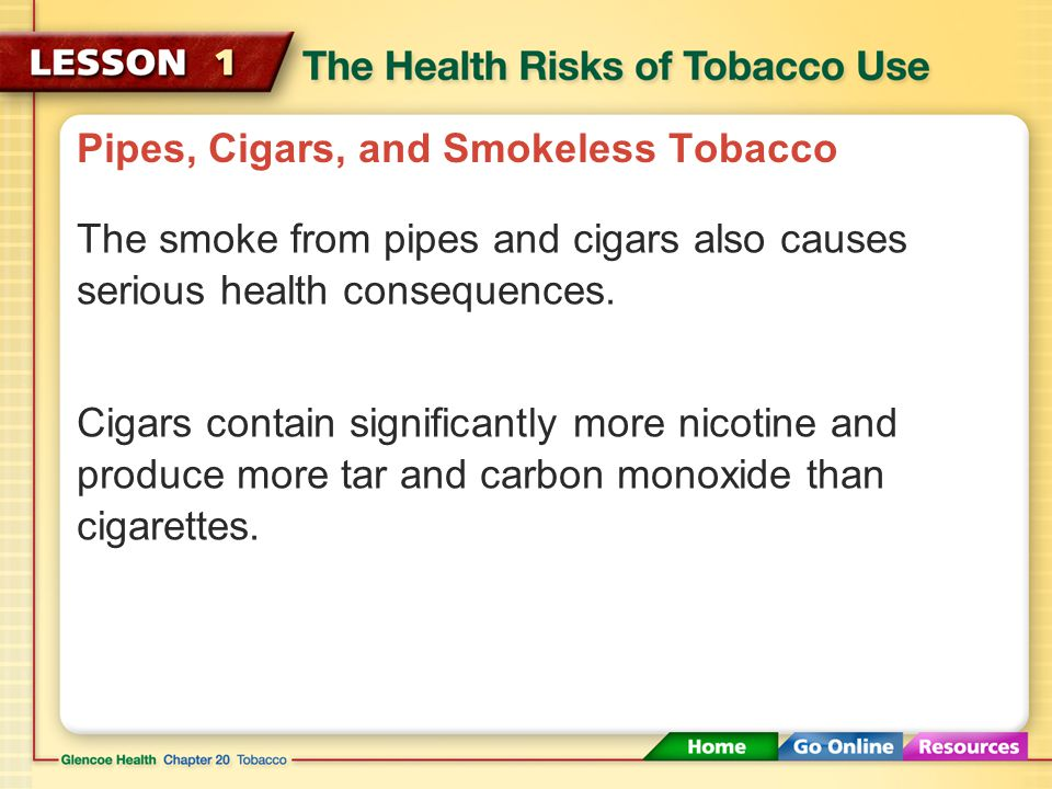 Pipes, Cigars, and Smokeless Tobacco Cigarette filters do not protect smokers from more than 50 carcinogens, including cyanide and arsenic, which are