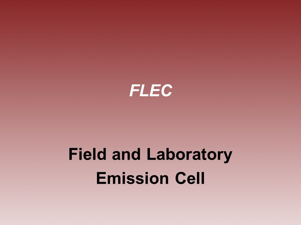 FLEC Field and Laboratory Emission Cell