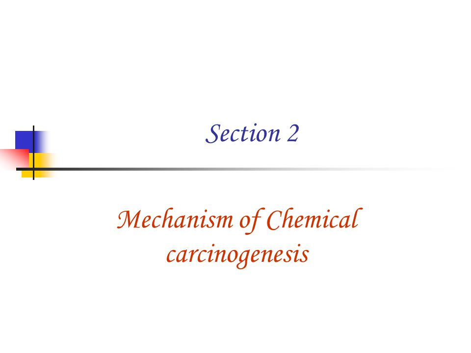 Section 2 Mechanism of Chemical carcinogenesis