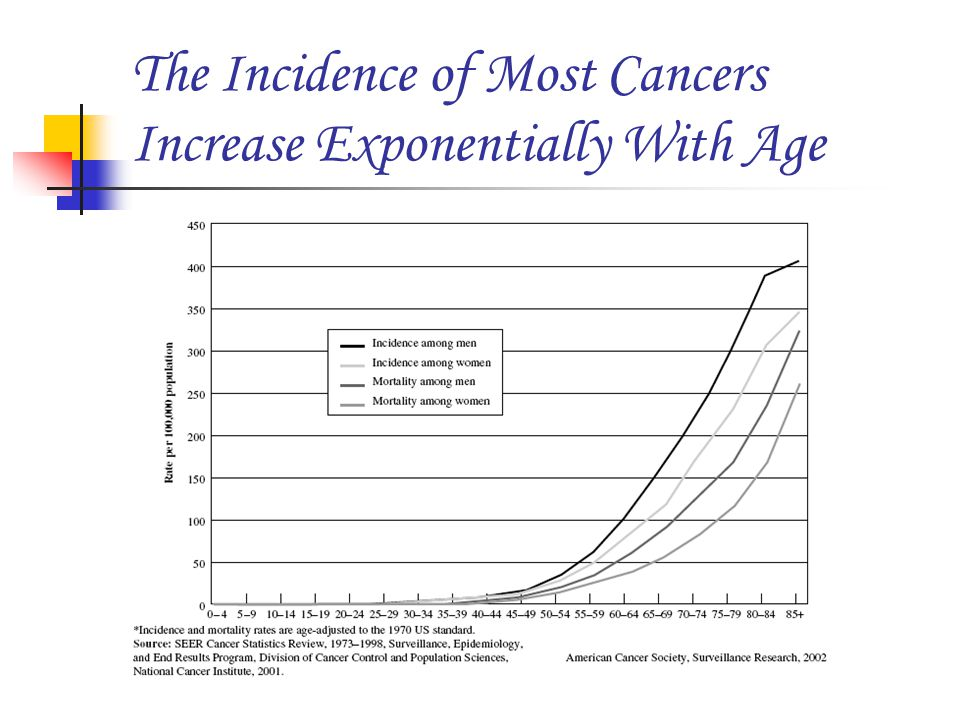 The Incidence of Most Cancers Increase Exponentially With Age