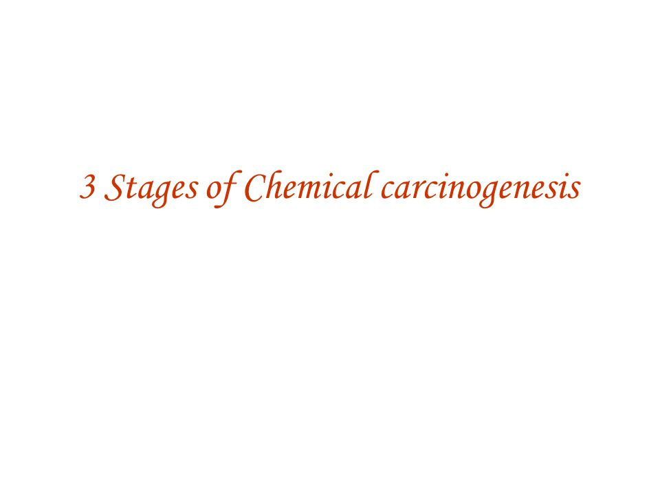 3 Stages of Chemical carcinogenesis