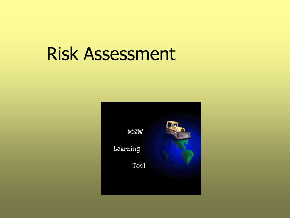 Risk Assessment Applications Identification of any ecological risk Identification of the need for additional data collection Site remediation alternative selection Establishment of cleanup standards