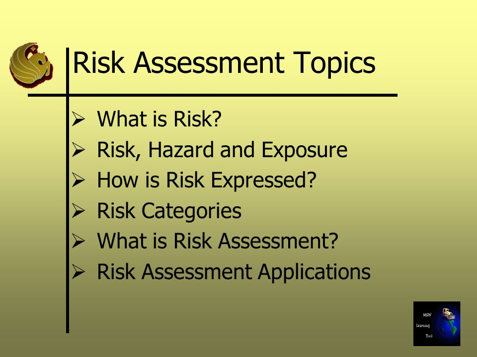Risk Characterization: Non- carcinogenic  Normally characterized in terms of hazard index (HI)  HI = (CDI/RfD) where CDI = Chronic daily intake (mg/kg-day) RfD = Reference dose (mg/kg-day) HI = Hazard Index (Unitless)  HI < 1.0 is acceptable