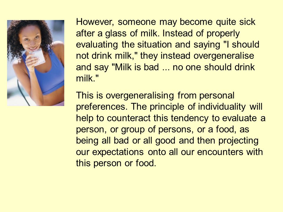 Many people can't drink milk, due to an allergy or intolerance.