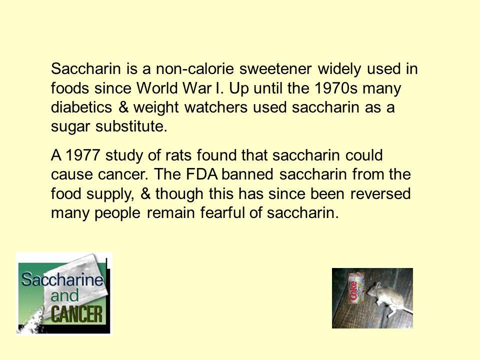 Saccharin & cancer
