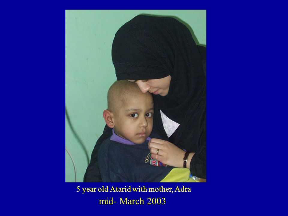 5 year old Atarid with mother, Adra mid- March 2003