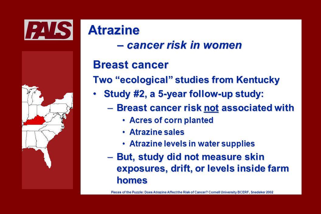 Pieces of the Puzzle: Does Atrazine Affect the Risk of Cancer.