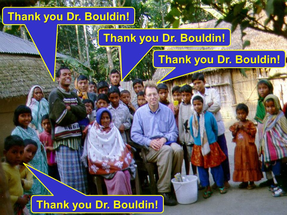 Thank you Dr. Bouldin!