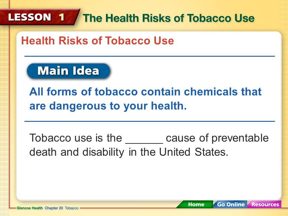 Health Risks of Tobacco Smoke Environmental tobacco smoke (ETS) is also called secondhand smoke.