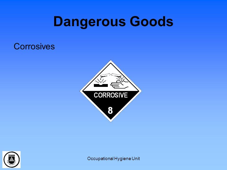Occupational Hygiene Unit Dangerous Goods Corrosives