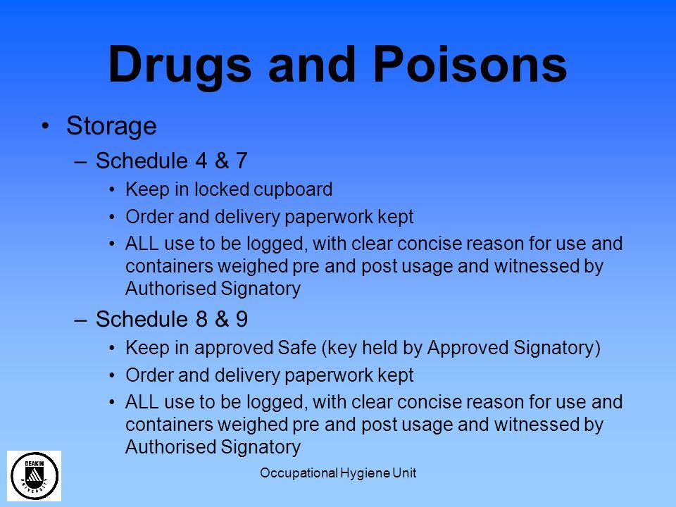 Occupational Hygiene Unit Dangerous Goods What are Dangerous Goods.