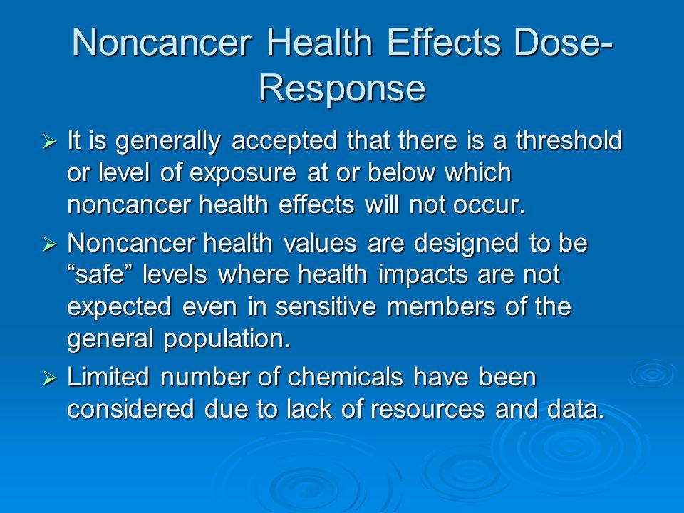 Advantages of Risk Assessment  Risk assessment incorporates health conservative assumptions.