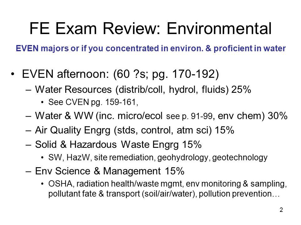 3 TIPS Watch units.–Water: ppm = mg/L; ppb = μg/L; –Soil: ppm = mg/kg; –Air ppm IS NOT mg/L.