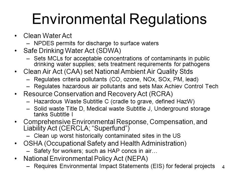 5 Water Quality Wastewater –Solids: TDS, VDS, TSS, VSS –BOD 5 or COD BOD 5 = BOD u (1 – e -kt ), if k is base e deoxygenation rate constant (sometimes use base 10) –Organic nitrogen (as N) –Ammonia nitrogen (NH 3 -N) –TKN = organic N + ammonia N –Total phosphorus p.