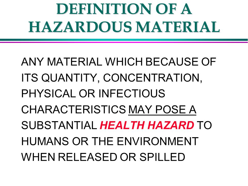 HEALTH HAZARD l HEALTH HAZARDS ARE THOSE WHICH MAY CAUSE MEASURABLE CHANGES IN THE BODY SUCH AS DECREASED PULMONARY FUNCTION