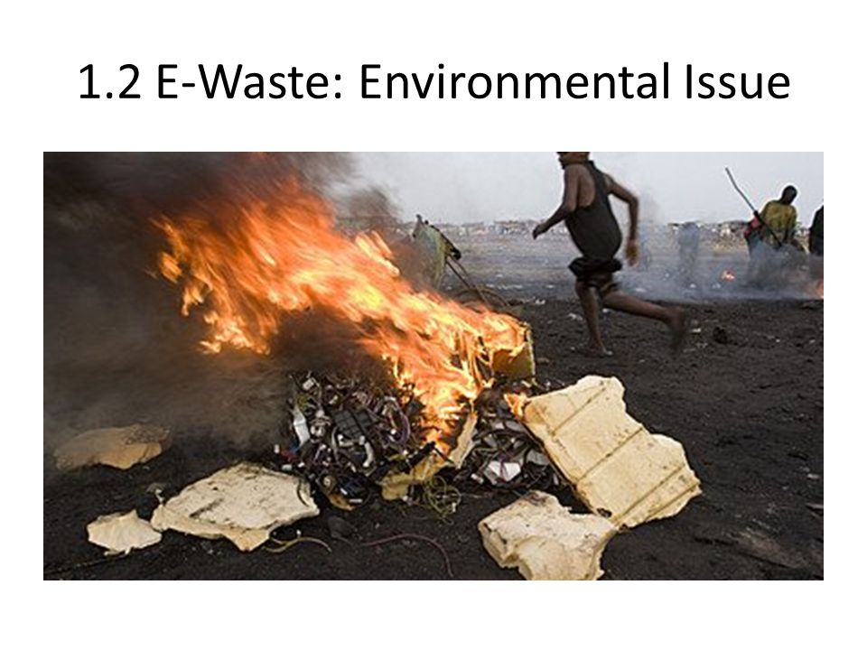 1.2 E-Waste: Environmental Issue