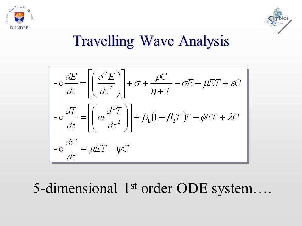 5-dimensional 1 st order ODE system….