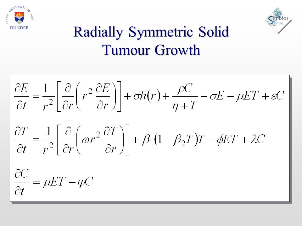 Radially Symmetric Solid Tumour Growth