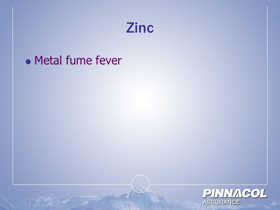 Zinc  Metal fume fever