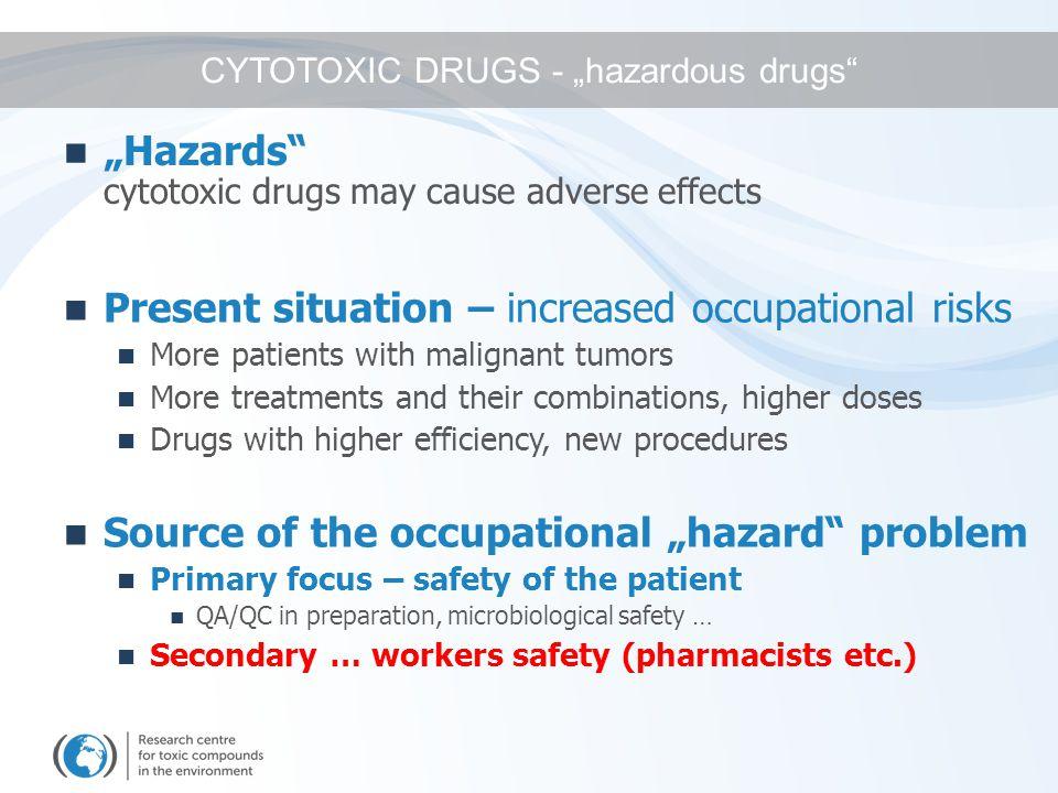 Drug preparation Storage Transport Administration Waste management Sanitation Hazardous activities  EXPOSURE