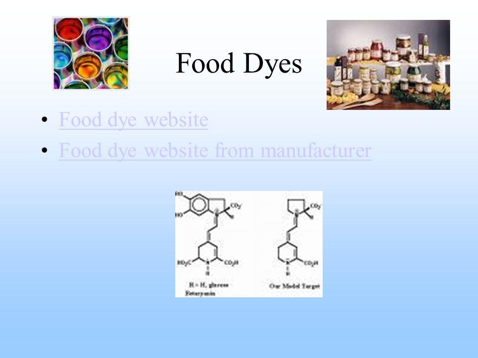 Food Dyes Food dye website Food dye website from manufacturer