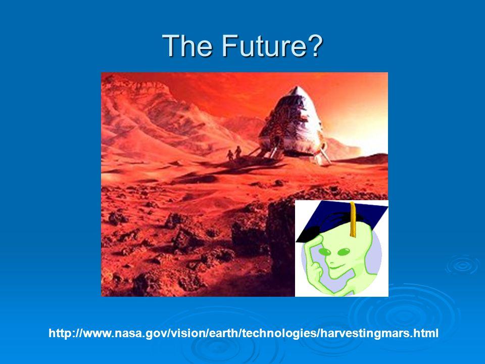 The Future? http://www.nasa.gov/vision/earth/technologies/harvestingmars.html