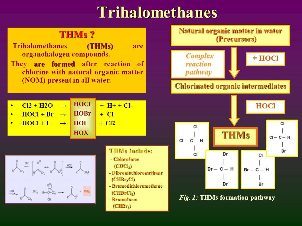 Trihalomethanes THMs . (THMs) Trihalomethanes (THMs) are organohalogen compounds.