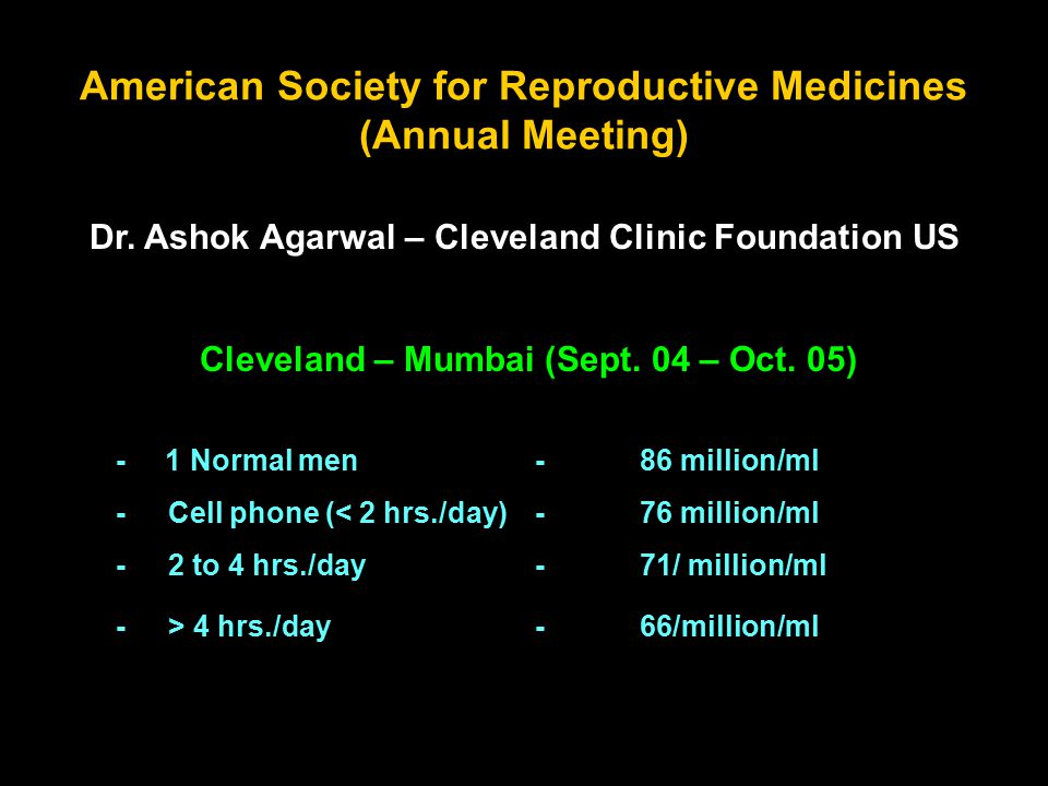 American Society for Reproductive Medicines (Annual Meeting) Dr.