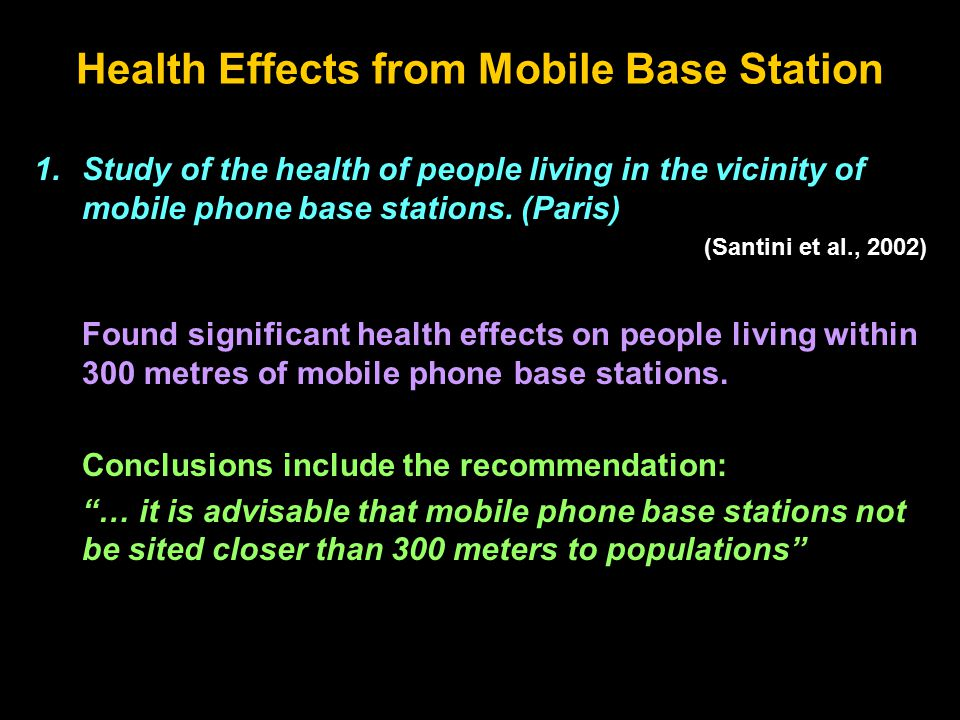 Health Effects from Mobile Base Station 1.