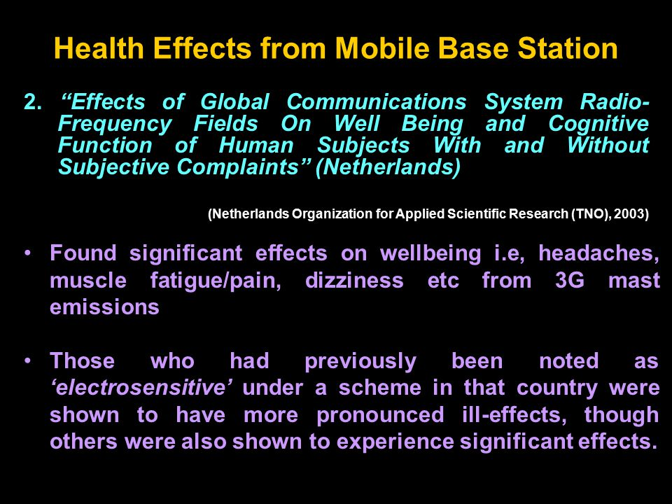 """2. """"Effects of Global Communications System Radio- Frequency Fields On Well Being and Cognitive Function of Human Subjects With and Without Subjective"""
