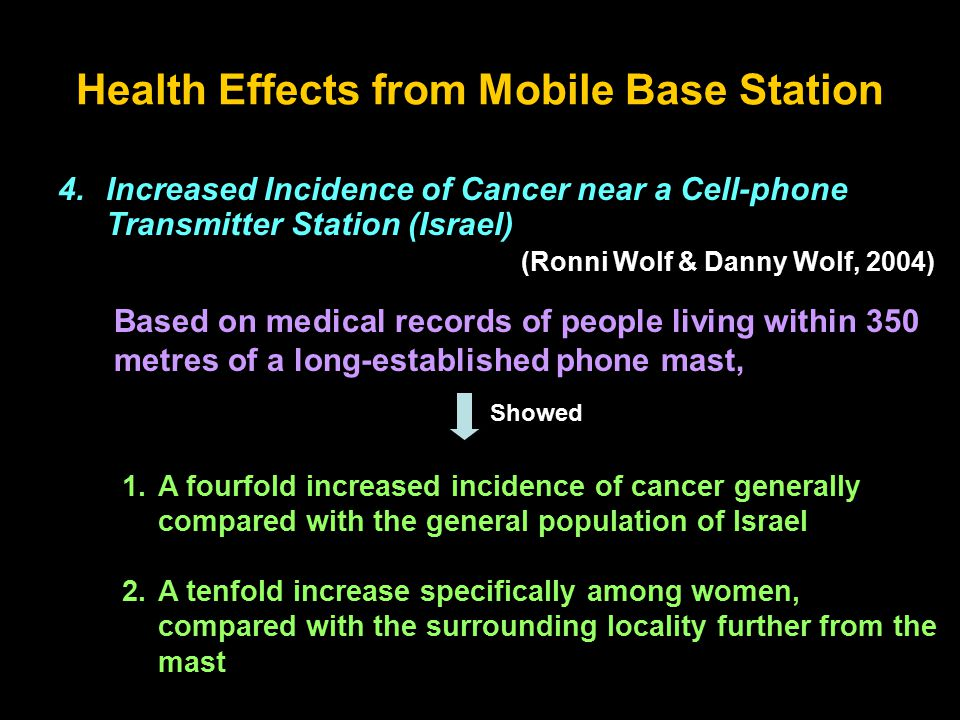 Health Effects from Mobile Base Station 4.