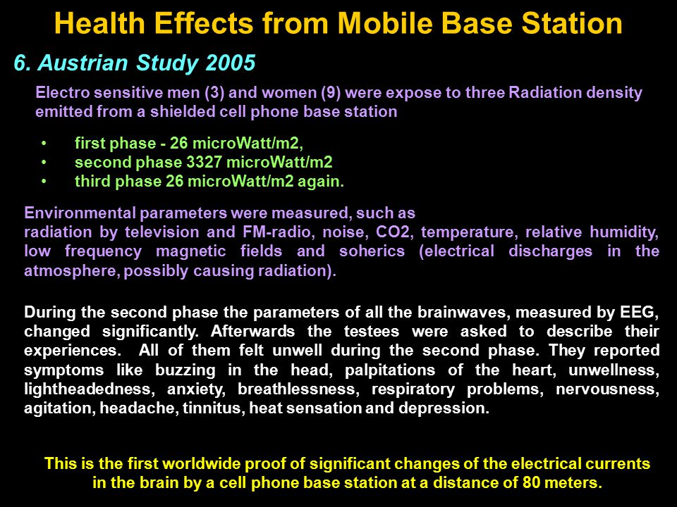 Health Effects from Mobile Base Station 6.
