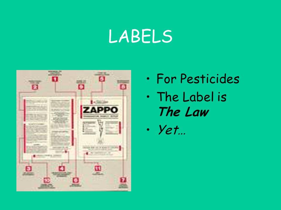 LABELS Original Container --> Identification, Hazard, Manufacturer's Address Secondary Container --> Identification, Hazard