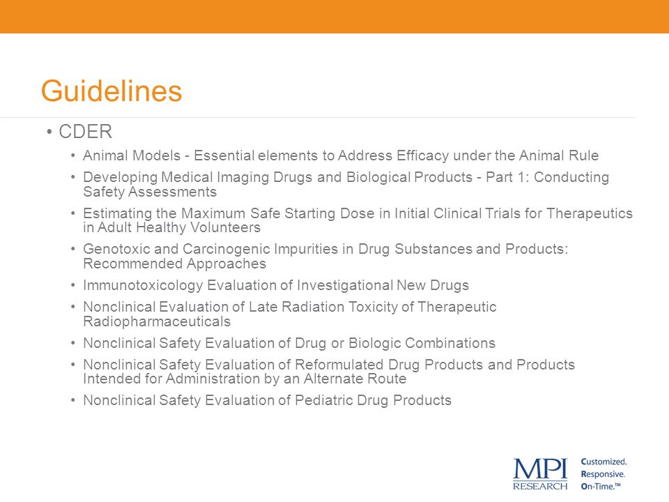 Guidelines CDER Animal Models - Essential elements to Address Efficacy under the Animal Rule Developing Medical Imaging Drugs and Biological Products