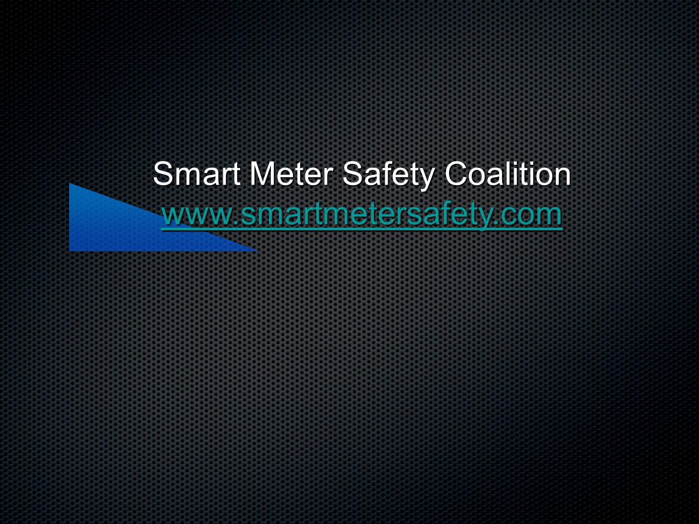 Smart Meter Safety Coalition www.smartmetersafety.com