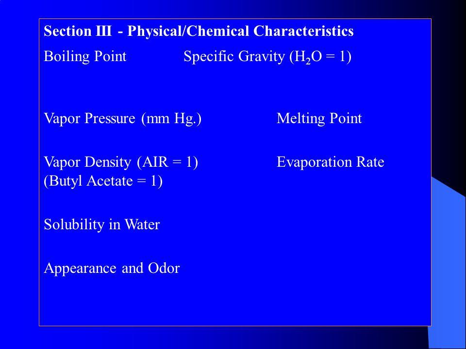 Section II - Hazard Ingredients/Identity Information Hazardous Components (Specific Chemical Identity; Common Name(s))OSHA PELACGIH TLVOther Limits Re