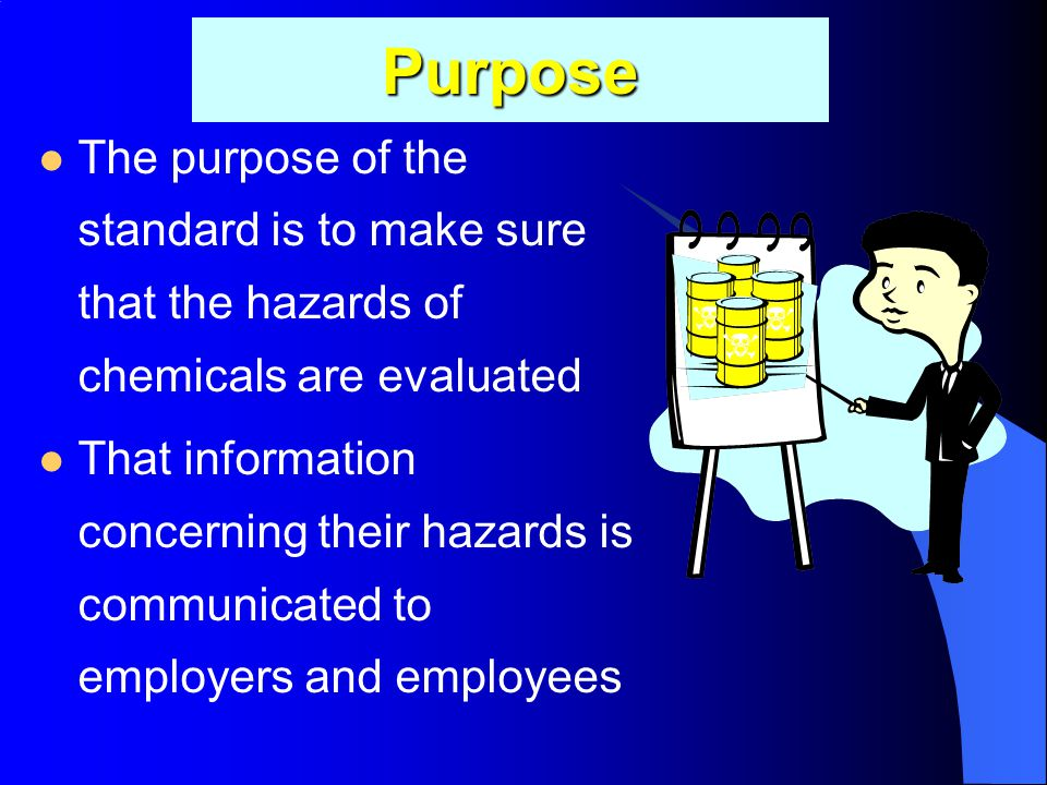 OHSA's Haz-Com Standard 5/7/2015 Industrial Safety Lecture Three 5 OSHA's Hazard Communication Standard is designed to protect employees from hazardou