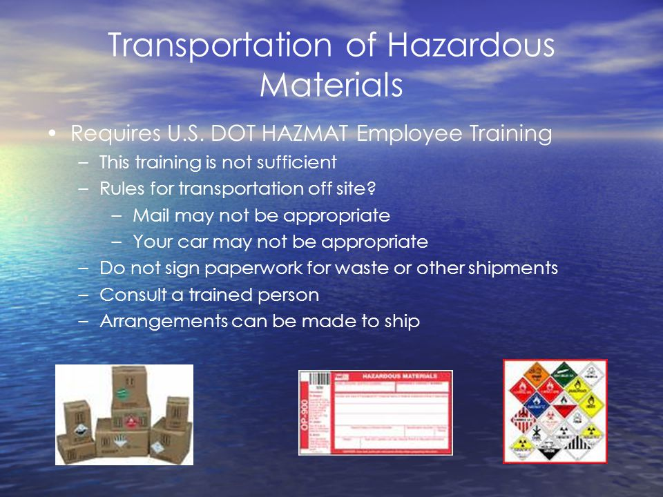 Transportation of Hazardous Materials Requires U.S.