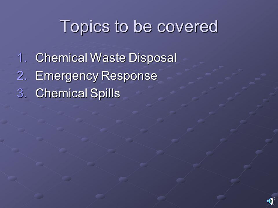 West Virginia University Laboratory Training Module 4. Chemical Safety