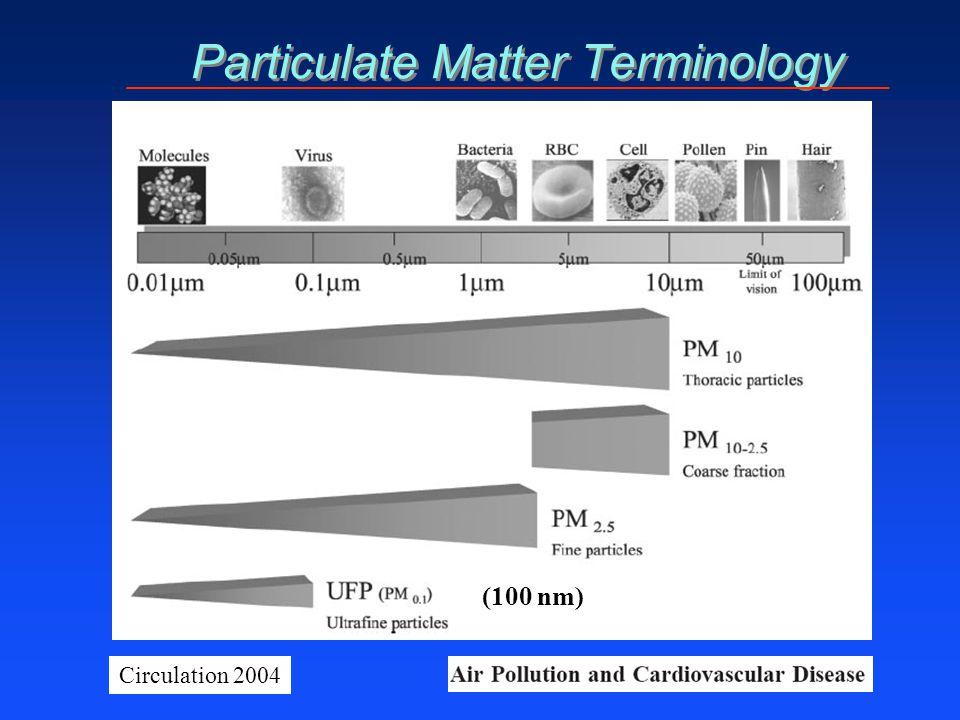 Particulate Matter Terminology Circulation 2004 (100 nm)
