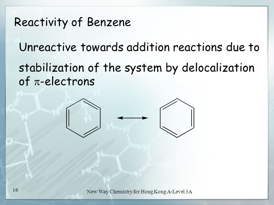 New Way Chemistry for Hong Kong A-Level Book 3A15 New Way Chemistry for Hong Kong A-Level 3A 15 Reactions of Benzene