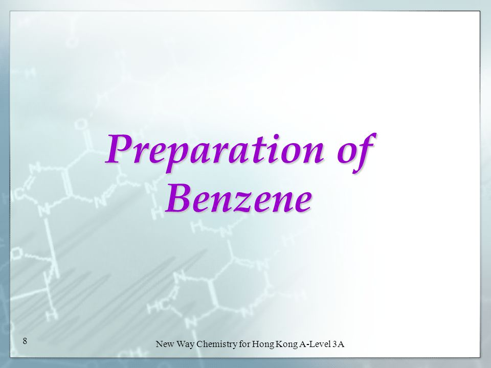 New Way Chemistry for Hong Kong A-Level Book 3A38 New Way Chemistry for Hong Kong A-Level 3A 38 Important starting step in the manufacture of styrene, phenol and detergents Example 29-6 Example 29-6 Check Point 29-6 Check Point 29-6 5.