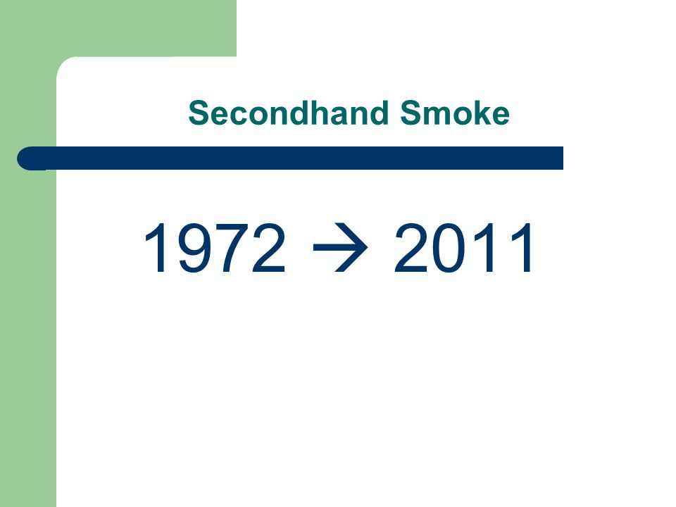 Secondhand Smoke 1972  2011