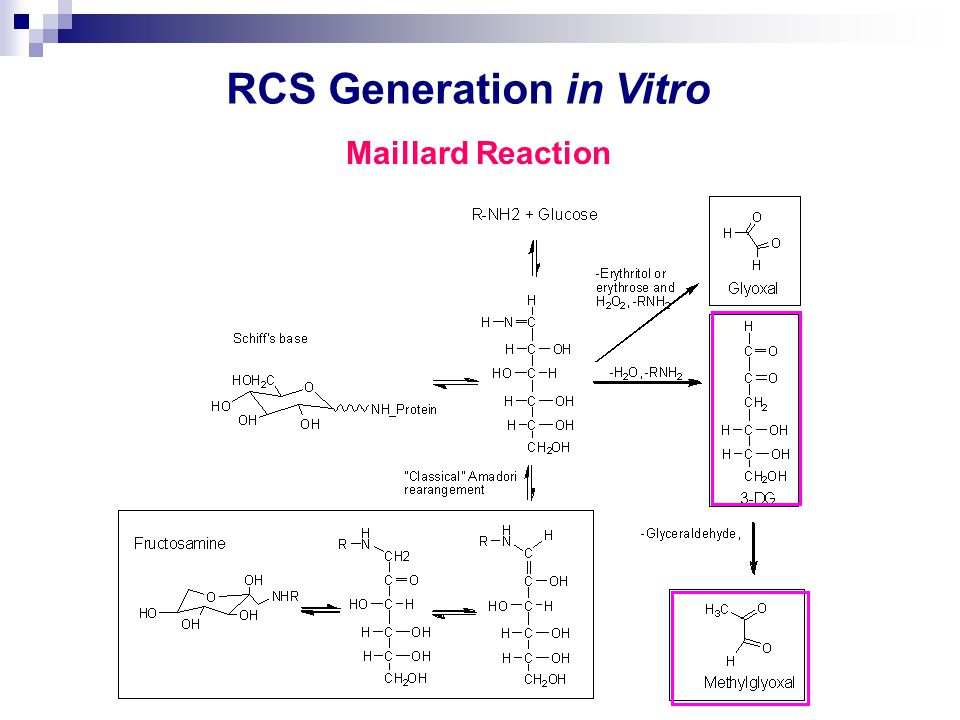 RCS Generation in Vitro Maillard Reaction