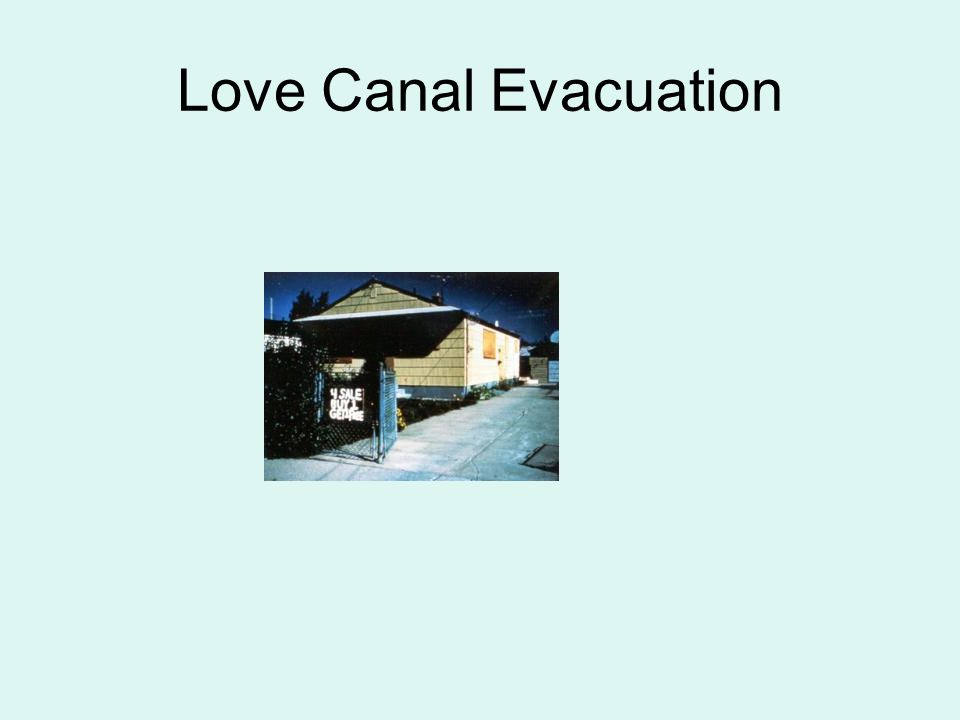 Love Canal Evacuation