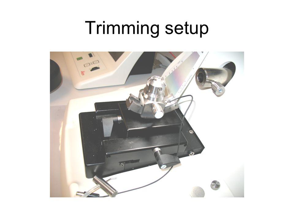 Trimming setup