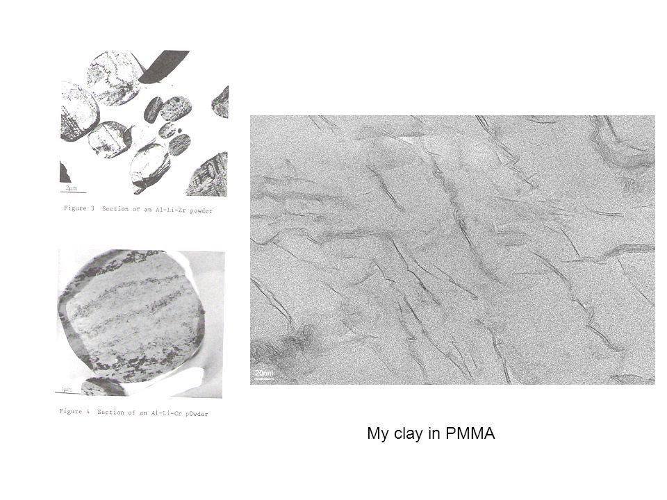 My clay in PMMA