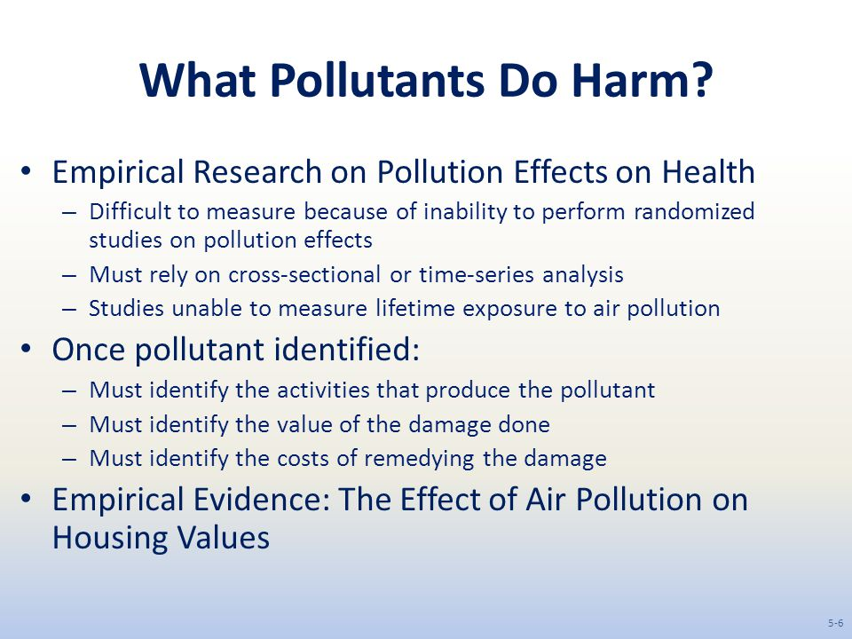 What Pollutants Do Harm.